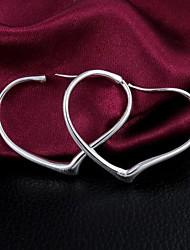 Недорогие -серьги обруча серьги ювелирные изделия ежедневно циркон / серебро покрытием элегантный стиль
