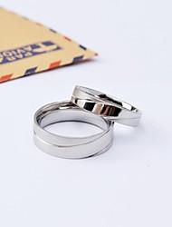 Per donna Anelli per coppie Acciaio al titanio Rotondo Gioielli Per Quotidiano Casual