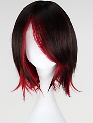 cheap -Cosplay Wigs RWBY Ruby Anime Cosplay Wigs 35 CM Heat Resistant Fiber Women's