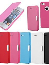 Недорогие -Кейс для Назначение iPhone 4/4S Apple Чехол Твердый Кожа PU для iPhone 4s/4
