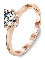 preiswerte -Fashion Rose Gold Ring Weiß Zirkonia Ringe Schmuck Accessoires für Frauen