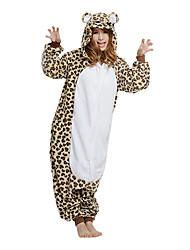baratos -Pijamas Kigurumi Urso Pijamas Macacão Ocasiões Especiais Lã Polar Marron Cosplay Para Adulto Pijamas Animais desenho animado Dia das