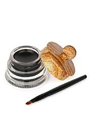 Недорогие -профессиональный подводка для глаз макияж гель черный водонепроницаемый длительный подводка для глаз Крем с кистью