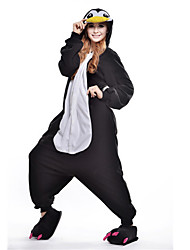 Kigurumi Pajamas New Cosplay® Penguin Leotard/Onesie Festival/Holiday Animal Sleepwear Halloween Black Patchwork Polar Fleece Kigurumi For