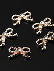 billige -10stk glitter kobber tone diamante rhinestone butterfly 3d legering søm kunst dekoration