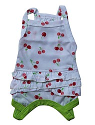 cheap -Cat Dog Shirt / T-Shirt Dog Clothes Fruit Red Green Cotton Costume For Pets