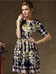preiswerte -Kleid - Mini - Andere - Bedruckt