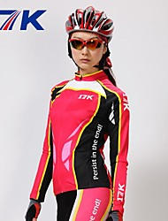Mysenlan Cycling Jersey with Tights Women's Long Sleeves Bike Sleeves Clothing Suits Thermal / Warm Quick Dry Ultraviolet Resistant