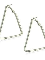 legering med slæbende trekant figurer hoop øreringe elegant stil