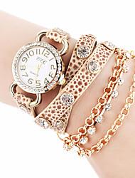 Недорогие -tomono цепь женской моды случайные часы (бежевый)