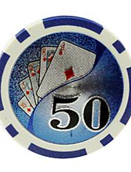 cheap -$50 Blue 15g ABS Mahjong Chips Entertainment Toys
