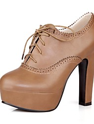 cheap -Women's Shoes Chunky Heel Round Toe Oxfords Dress Shoes More Colors available