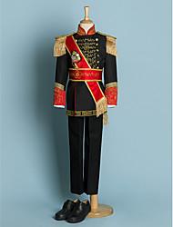 Недорогие -Цвет слоновой кости / Черный Полиэстер Детский праздничный костюм - 5 Включает в себя Куртка / Широкий пояс / Рубашка