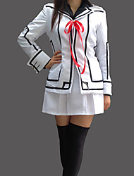 cheap -Inspired by Vampire Knight Luca Souen Anime Cosplay Costumes Cosplay Suits School Uniforms Patchwork Long Sleeves Coat Shirt Skirt Armlet