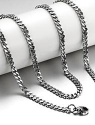 Недорогие -Муж. Ожерелья-цепочки Титановая сталь Серебряный Ожерелье Бижутерия Назначение Новогодние подарки Свадьба Для вечеринок Повседневные Спорт