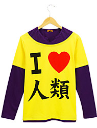 baratos -Inspirado por No Game No Life Fantasias Anime Fantasias de Cosplay Hoodies cosplay Estampado Manga Longa Camiseta Para Homens