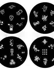preiswerte -1pcs Nail Art Stamping Stempel Vorlage Platte Nr. 5 b-Serie-8 (verschiedene Muster)