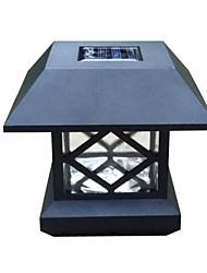 tampão branco energia solar poste de luz plataforma de montagem ao ar livre lâmpada cerca do jardim