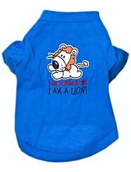 abordables -Perro Camiseta Ropa para Perro Letra y Número Azul Algodón Disfraz Para mascotas Cosplay Boda