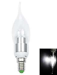 Недорогие -1шт 3 W 200lm E14 / B22 / E12 LED лампы в форме свечи 6 Светодиодные бусины SMD 5730 Декоративная Холодный белый / Естественный белый 110-240 V