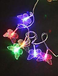 preiswerte -5M 40 Multicolor-LED-Lichterkette Schmetterling Hochzeit Party-Lampe (220 VAC)