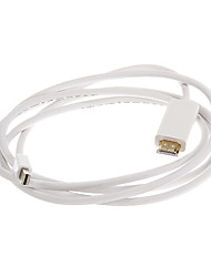cheap -ThunderBolt Male to HDMI Male White Video Cable for MacBook (180cm)