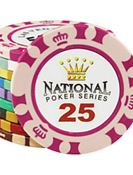 cheap -$25 Crown Pattern Clay Mahjong Chips Entertainment Toys