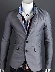 cheap -Men's Classic & Timeless Blazer-Solid Colored