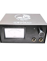abordables -Iron Tattoo Power Supply with Skull Pattern
