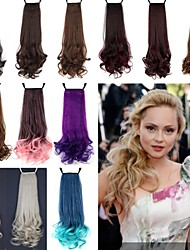 cheap -18 inch Medium Hair Extension Curly Classic Daily High Quality Ponytails