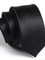 cheap -Men's Polyester Neck Tie,Party Work Casual Print All Seasons Black