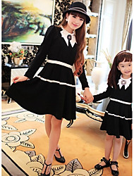 Long Sleeve Cotton Blend/Polyester Family Clothing Sets , Winter/Fall Dress
