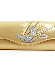 Women Bags leatherette Evening Bag Crystal/ Rhinestone for Wedding Silver Purple Red Blue Golden