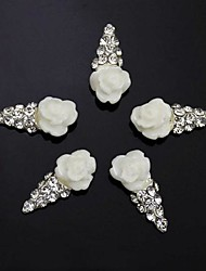 10pcs     IceCream 3D Rhinestone Flower DIY Accessories Nail Art Decoration