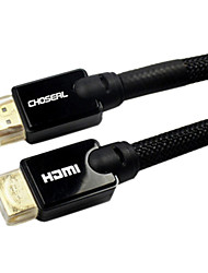 0.75M 2.5FT HDMI V1.4 Male to HDMI V1.4 Male for HD 1080P 3D DVD Bluray Cables Free Shipping