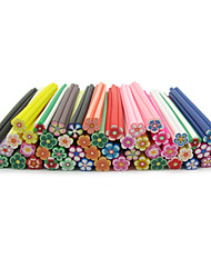 50PCS Special Adorable FIMO Canes Rods 3D Wintersweet Nail Art Decoration