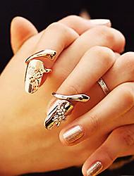 baratos -Mulheres Anel de declaração - Strass, Imitações de Diamante, Liga Personalizada, Fashion 4 Dourado / Prata Para Festa / Diário / Casual