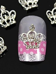 cheap -10pcs  3D DIY Rhinestones  Crown For Finger Tips  Alloy Nail Art Decoration
