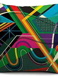 1 pçs Algodão/Linho Cobertura de Almofada,Geométrica Moderno/Contemporâneo
