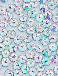 Недорогие -1400pcs 4.0mm блеск Crystal AB горный хрусталь ногтей украшения