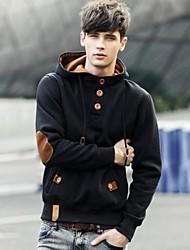 Zian® Men's Pullover Solid Color Hoodies Long Sleeves Fleece