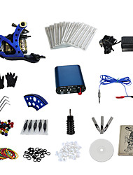 preiswerte -1 Gun Complete No Ink Tattoo Kit with Mini Blue Motor Power