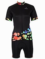 billige -ILPALADINO Cykeltrøje og shorts Dame Kort Ærme Cykel Trøje Shorts Tøjsæt Hurtigtørrende Åndbart Tilbage til lomme 100% Polyester