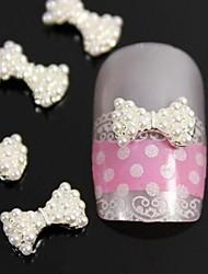 10pcs 3d diy perla arco cravatta accessori in lega di unghie nail art decorazione