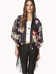 Недорогие -SW цветок печатных кисточка рубашка