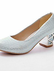 cheap -Women's Shoes Leatherette Spring / Summer Chunky Heel Plaid White / Pink / Blue / Dress