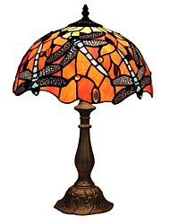 cheap -60W Tiffany Table Lamps , Feature for Eye Protection , with Painting Use On/Off Switch Switch