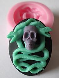 kraniet slangeskind bagning fondant kage chokolade slik skimmel, l4.8cm * w3.9cm * h1.5cm