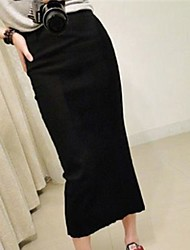 cheap -Women's Black/Gray/Red Skirts , Sexy/Bodycon/Work Maxi