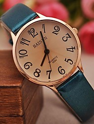 cheap -Women's Quartz Wrist Watch Hot Sale PU Band Charm Fashion Black White Blue Red Brown